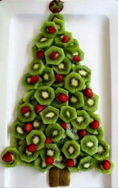 Kiwi and Strawberry Christmas Platter