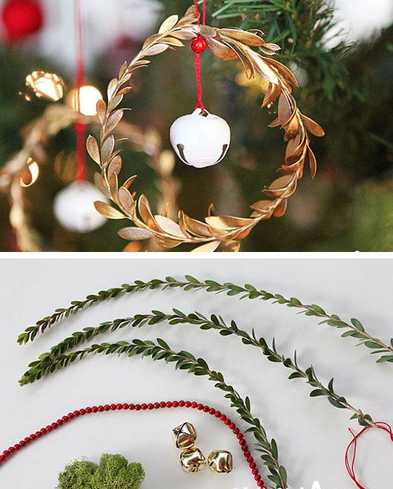 Leaf and Jingle Bell Ornaments #Christmas #Christmasdecor #budget #diy #decorhomeideas