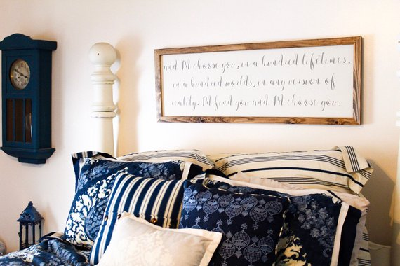 Master Bedroom Rustic Decor Sign #rusticbedroom #rustic #bedroom #farmhouse #decorhomeideas