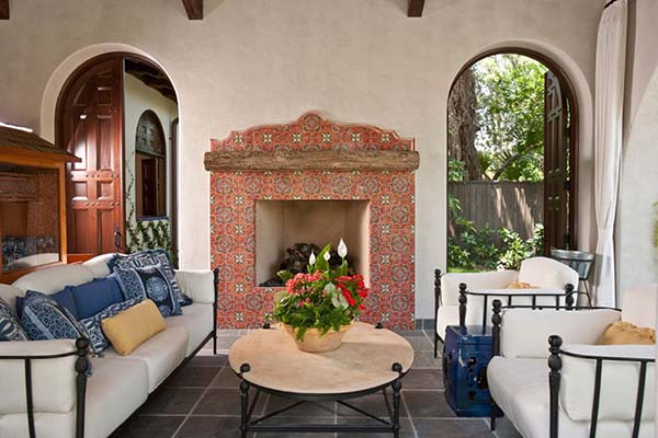 Morrocan fireplace tile ideas #fireplace #fireplacedesign #tile #fireplacetile #decorhomeideas