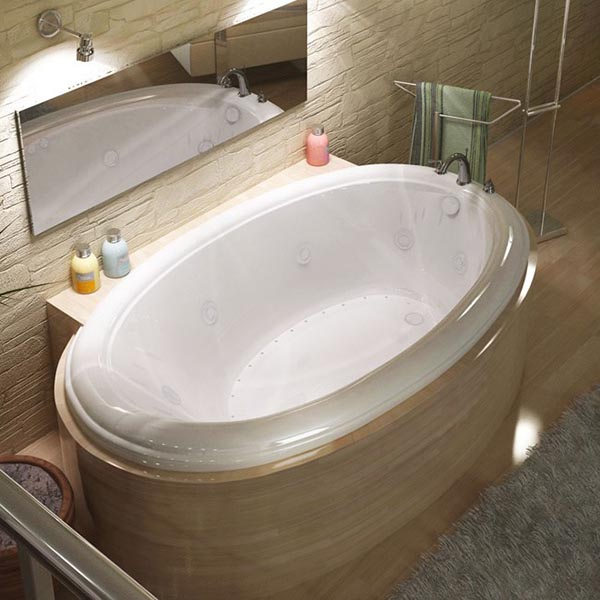 Oval Drop-In Bathtub #dropintub #bathtub #tub #ideas #decorhomeideas