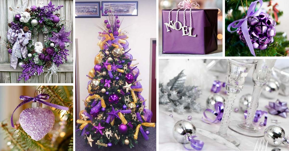 28 charming purple christmas decorations for maximum appeal decor home ideas