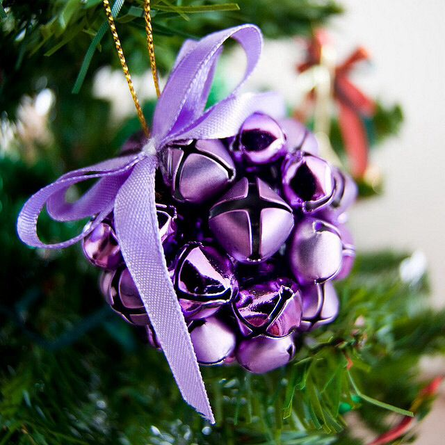 Purple Christmas Tree Ornament #Christmasdecor #purple #Christmas #decorhomeideas
