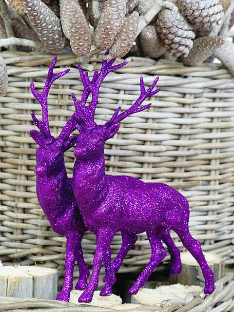 Purple Reindeers Christmas Decor #Christmasdecor #purple #Christmas #decorhomeideas