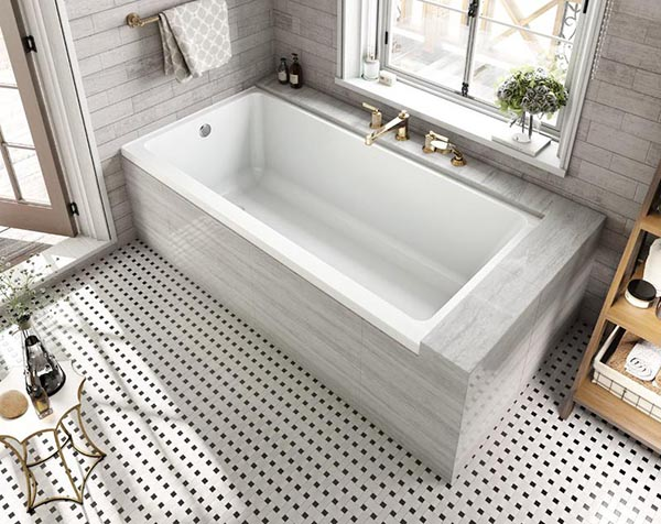 Rectangular Drop-In Bathtub Design #dropintub #bathtub #tub #ideas #decorhomeideas