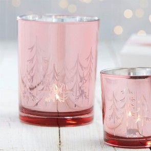 Rose Gold Christmas Candle Holders #rosegold #Christmas #Christmasdecor #rosegolddecor #decorhomeideas