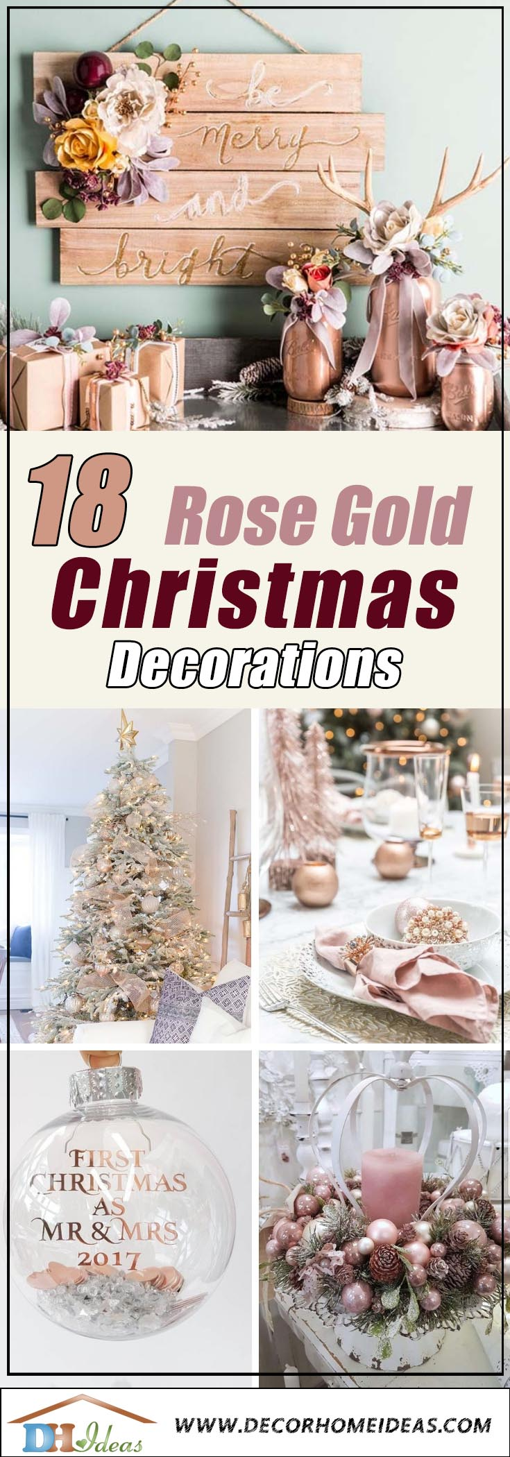 Rose Gold Christmas Decorations #rosegold #Christmas #Christmasdecor #rosegolddecor #decorhomeideas