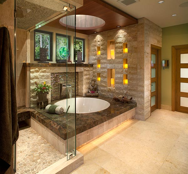 Round Drop-In Bathtub #dropintub #bathtub #tub #ideas #decorhomeideas