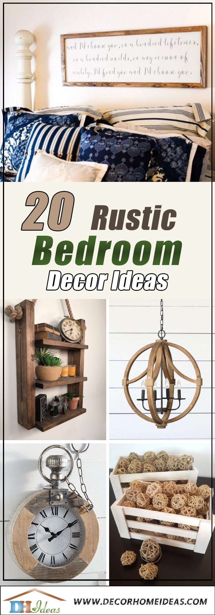 Rustic Bedroom Decor #rusticbedroom #rustic #bedroom #farmhouse #decorhomeideas