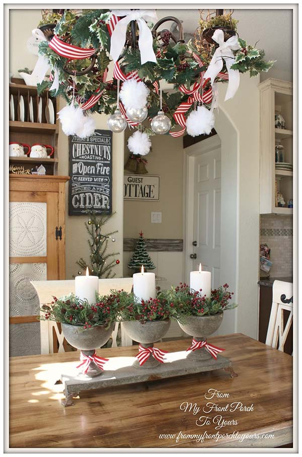 Rustic Christmas Decor Living Room #farmhouse #Christmas #Christmasdecor #farmhousedecor #decorhomeideas