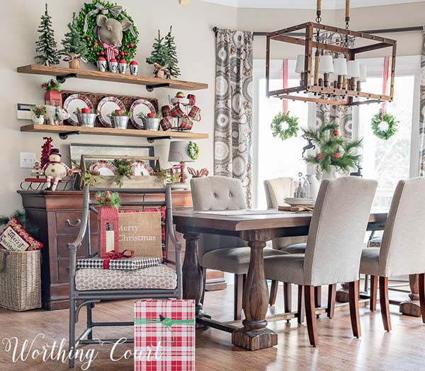 Rustic Christmas Kitchen #Christmas #Christmasdecor #kitchen #Christmaskitchen #decorhomeideas