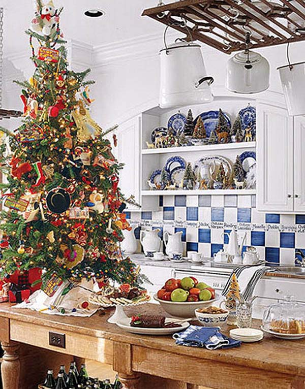 Rustic Design Christmas Kitchen #Christmas #Christmasdecor #kitchen #Christmaskitchen #decorhomeideas