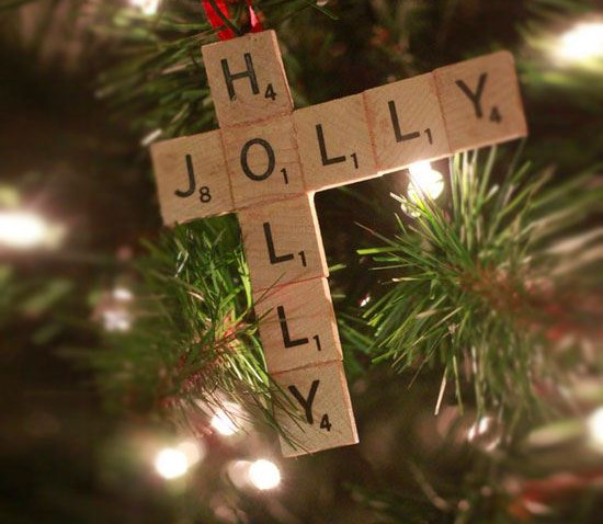 Scrabble Tile Ornament #Christmas #Christmasdecor #budget #diy #decorhomeideas