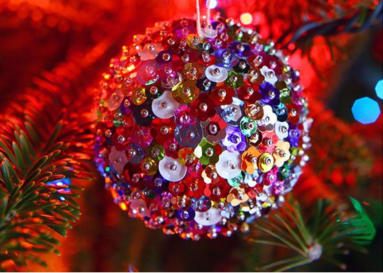 Sequin Sparkles Ornament #Christmas #Christmasdecor #budget #diy #decorhomeideas