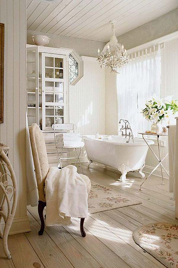 Shabby Chic Bathroom Tub Ideas