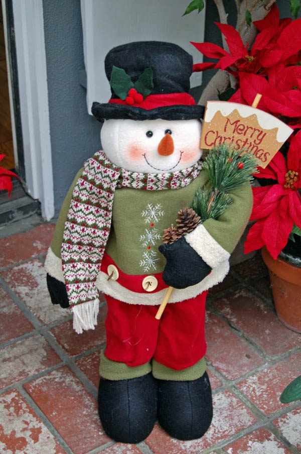 Snowman Outdoor Christmas Decoration #Christmasdecor #Christmas #outdoor #decorations #decorhomeideas