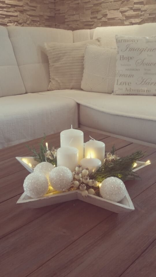 Star Christmas Centerpiece #Christmas #centerpieces #Christmasdecor #decorhomeideas