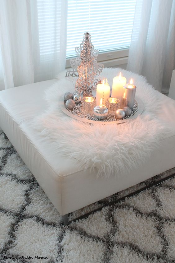 White Christmas Centerpiece #Christmasdecor #Christmas #white #whitechristmas #decorhomeideas