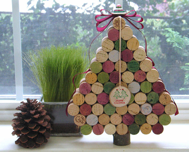 Wine Cork Christmas Tree #Christmas #Christmastree #homemade #DIY #Christmasdecor #decorhomeideas