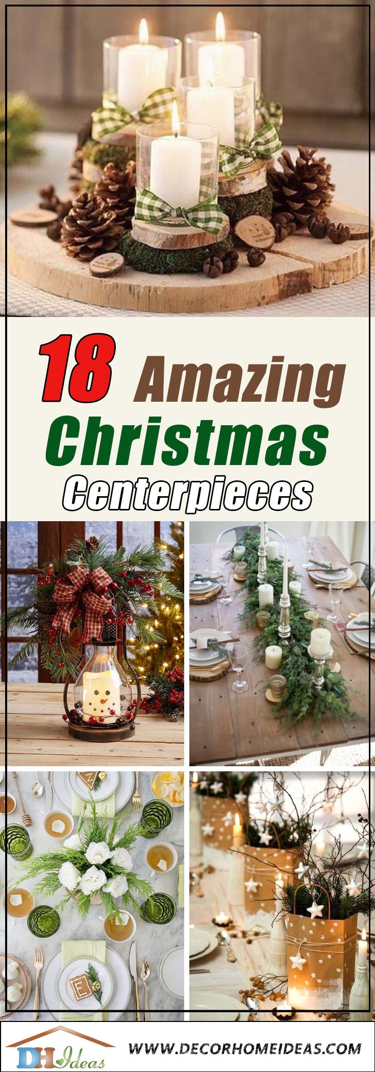 Amazing Christmas Centerpieces #Christmas #centerpiece #Christmasdecor #decorhomeideas