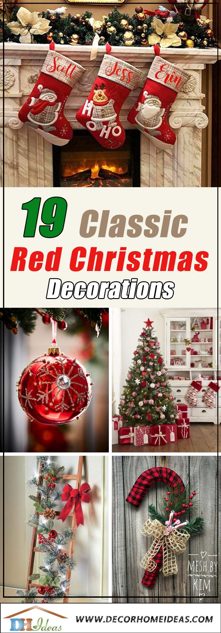 Best Red Christmas Decorations #Christmasdecor #Christmas #red #reddecor #decorhomeideas