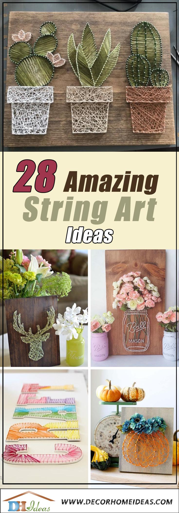 Best String Art Ideas #stringart #diy #stringartideas #decorhomeideas