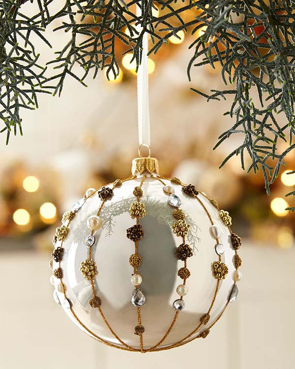 Christmas Ball Ornament #Christmas #ornaments #Christmasdecor #decorhomeideas