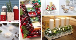 Christmas Candles Centerpieces