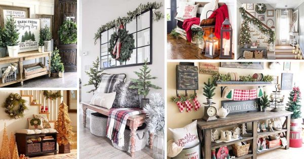 20 Farmhouse Entryway Christmas Decorations You Will Fall In