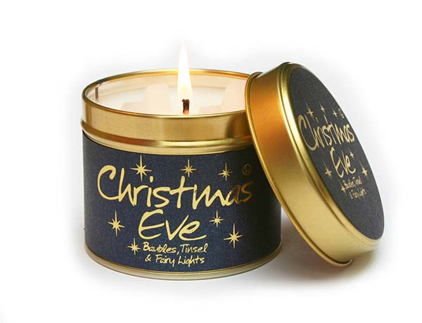 Christmas Eve Candle #Christmas #Christmasdecor #gold #navyblue #decorhomeideas