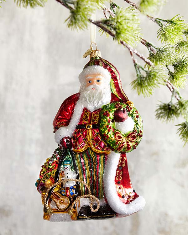 Classic Santa Claus Christmas-Ornament #Christmas #ornaments #Christmasdecor #decorhomeideas