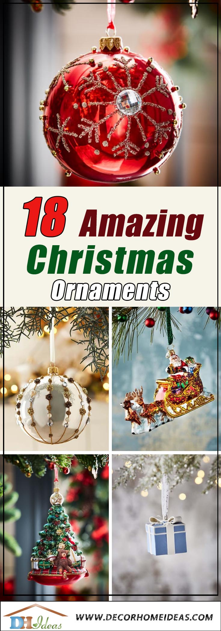 Fabulous Christmas Ornaments #Christmas #ornaments #Christmasdecor #decorhomeideas
