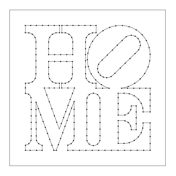Home String Art Pattern