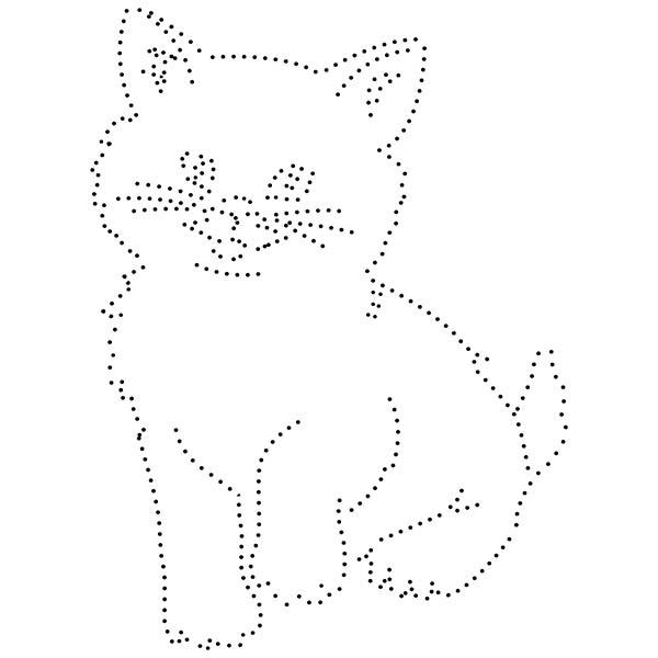 Kitty String Art Pattern