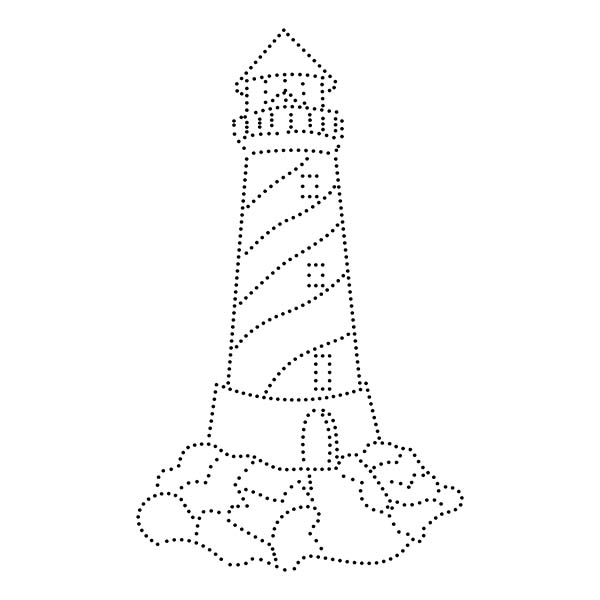 Lighthouse String Art Pattern