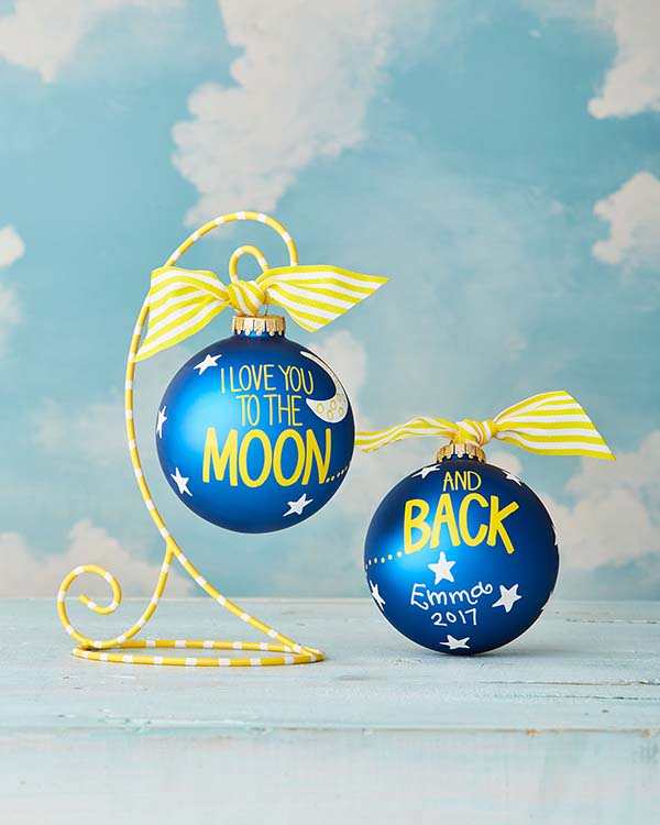 Love You To The Moon Christmas Ornament #Christmas #ornaments #Christmasdecor #decorhomeideas