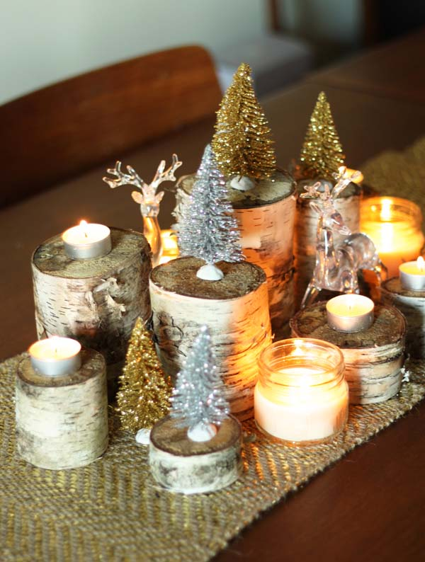 Nature Inspired Christmas Centerpiece #Christmas #centerpiece #Christmasdecor #decorhomeideas