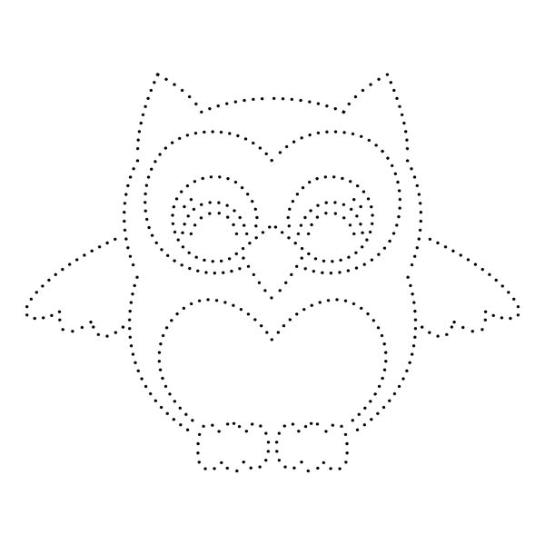 Owl String Art Pattern
