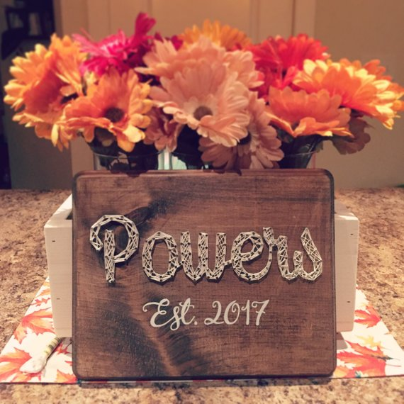 Personalized String Art Sign #stringart #diy #stringartideas #decorhomeideas