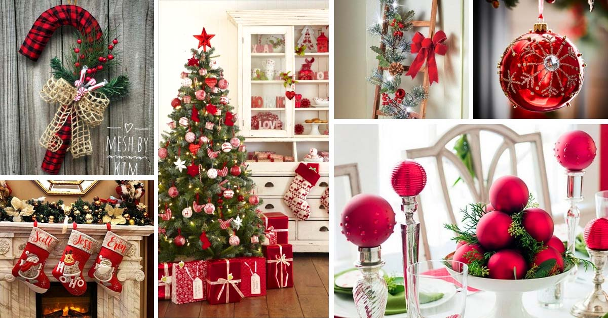 19 Classic Red Christmas Decorations That Are Timeless Decor Home Ideas