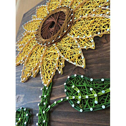 Sunflower String Art #stringart #diy #stringartideas #decorhomeideas