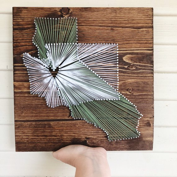 Two States String Art #stringart #diy #stringartideas #decorhomeideas