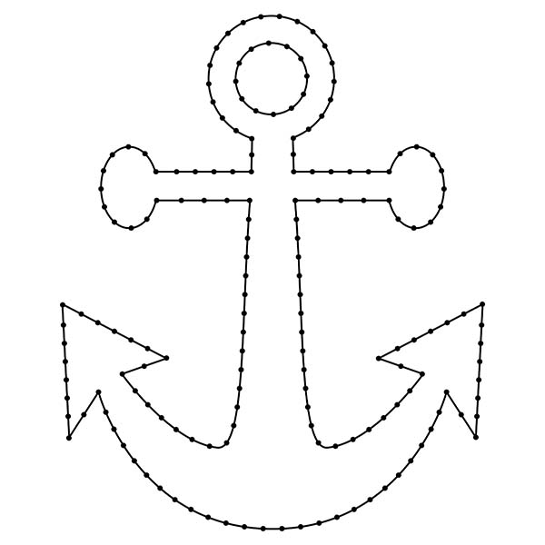 Anchor String Art Pattern