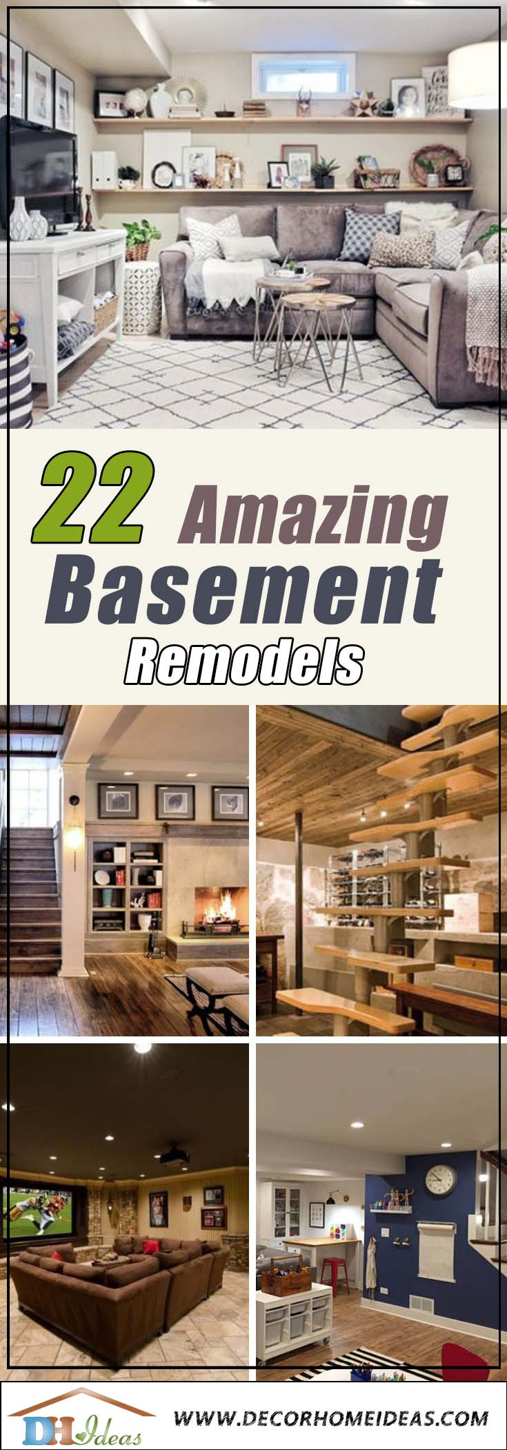 22 Basement Remodels Ideas Pinterest #basement #basementremodel #basementideas #basementdecor #homedecor #decorhomeideas