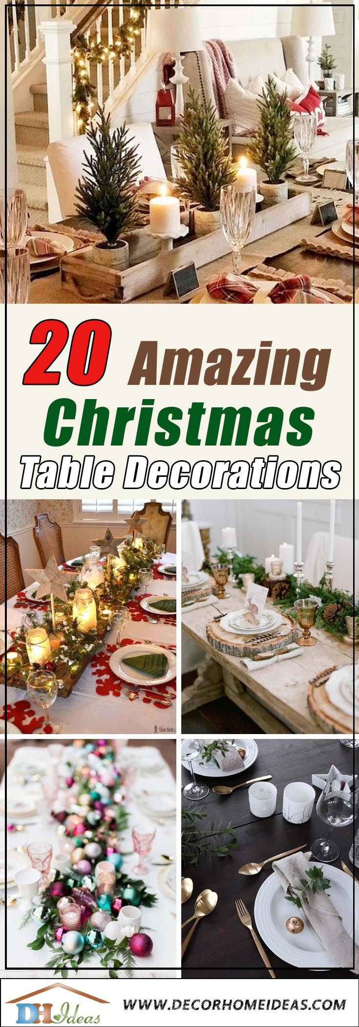 Best Christmas Table Decoration #Christmas #Christmasdecor #table #tabledecor #decorhomeideas