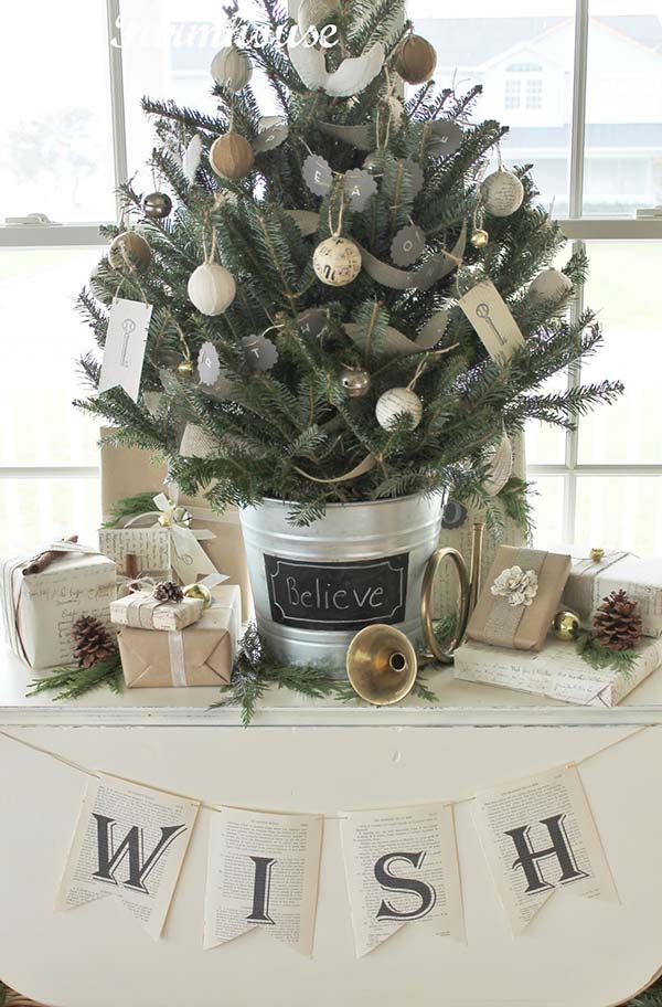 Farmhouse Tabletop Christmas Tree