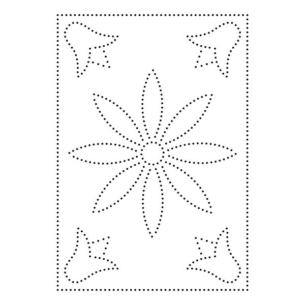 Floral String Art Pattern