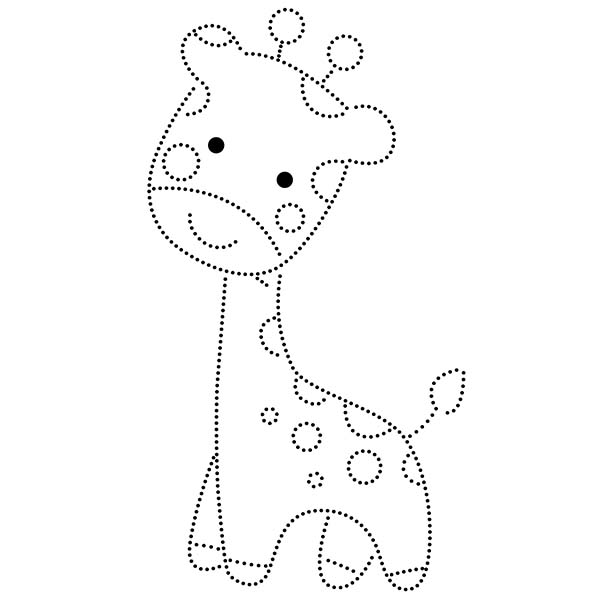 Giraffe String Art Pattern