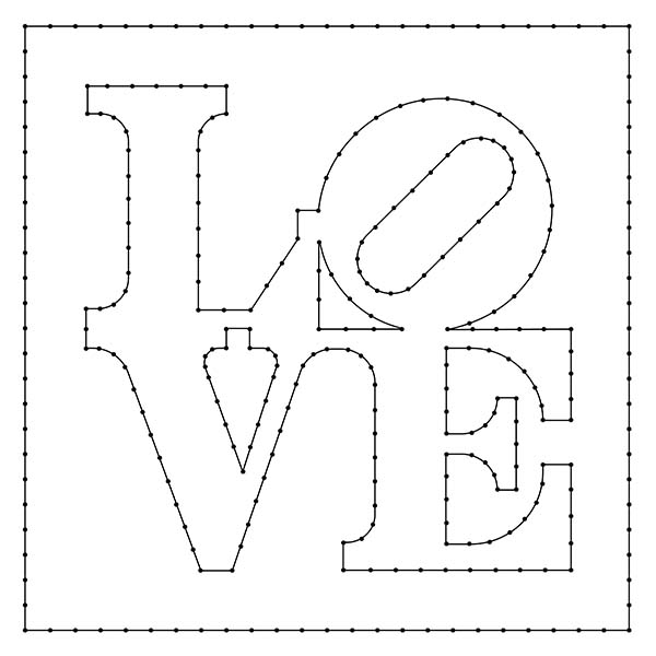 Love Sign String Art Pattern