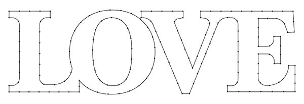 Love String Art Pattern